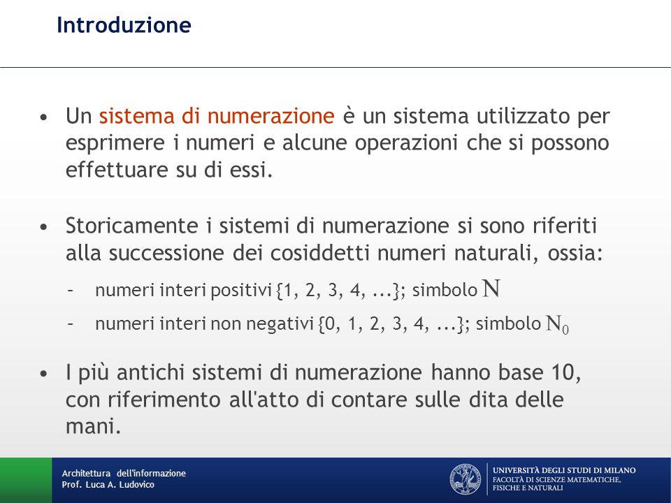 Introduzione Un sistema di numerazione è un sistema utilizzato per esprimere i numeri e alcune operazioni che si possono effettuare su di essi.