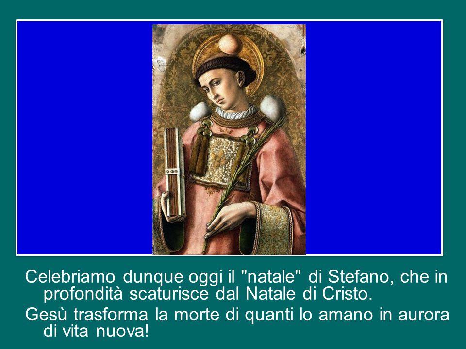 In realtà, nell'ottica della fede, la festa di santo Stefano è in piena sintonia col significato profondo del Natale.