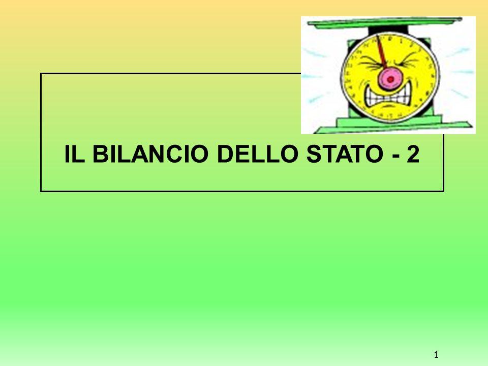 1 IL BILANCIO DELLO STATO - 2