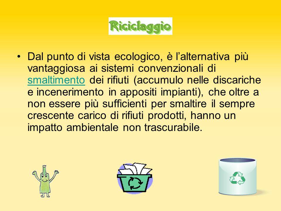 Dal punto di vista ecologico, è l'alternativa più vantaggiosa ai sistemi convenzionali di smaltimento dei rifiuti (accumulo nelle discariche e incener