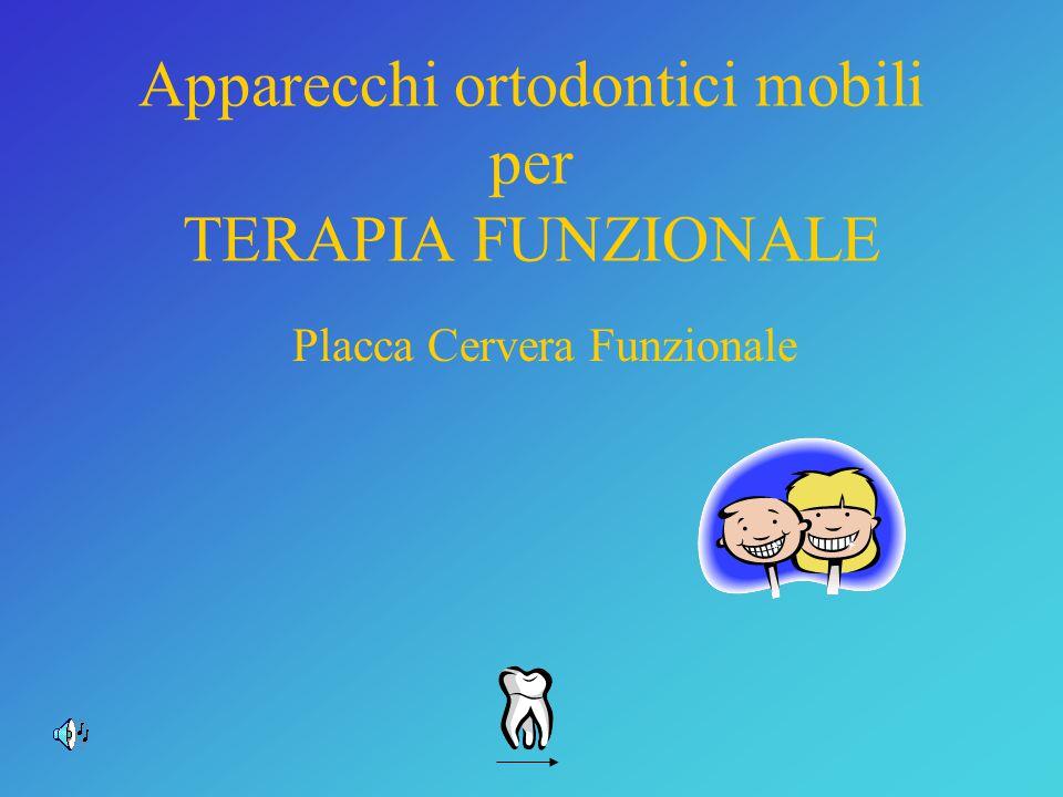 Apparecchi ortodontici mobili per TERAPIA FUNZIONALE Placca Cervera Funzionale