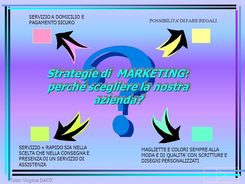 Tutor:Virginia Dall'O' STRATEGIA DI MARKETING IPOTESI DI MERCATO ANDAMENTO PREVISIONALE DEL MERCATO