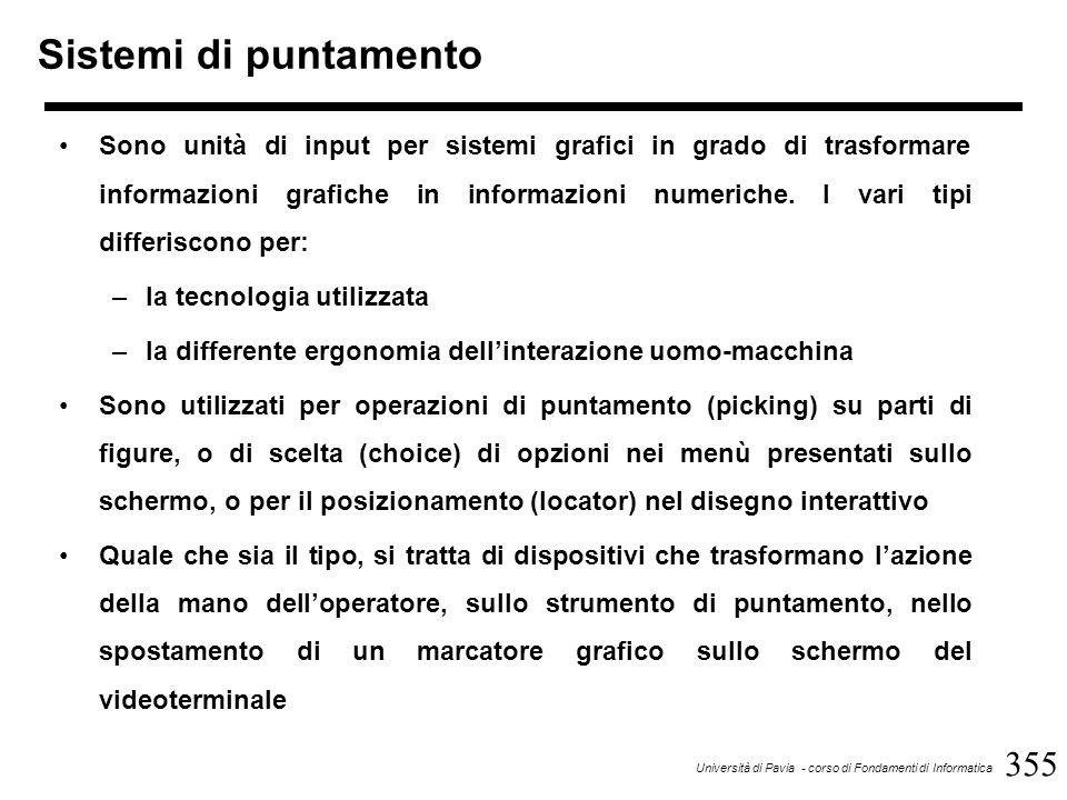 376 Università di Pavia - corso di Fondamenti di Informatica Plotter I plotter, detti anche tracciatori X-Y, sono unità di uscita che trasferiscono immagini e disegni dal formato interno digitale del calcolatore ad un supporto di carta o di mylar.