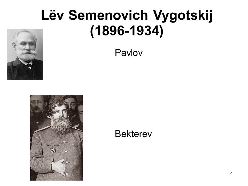 4 Lëv Semenovich Vygotskij (1896-1934) Pavlov Bekterev
