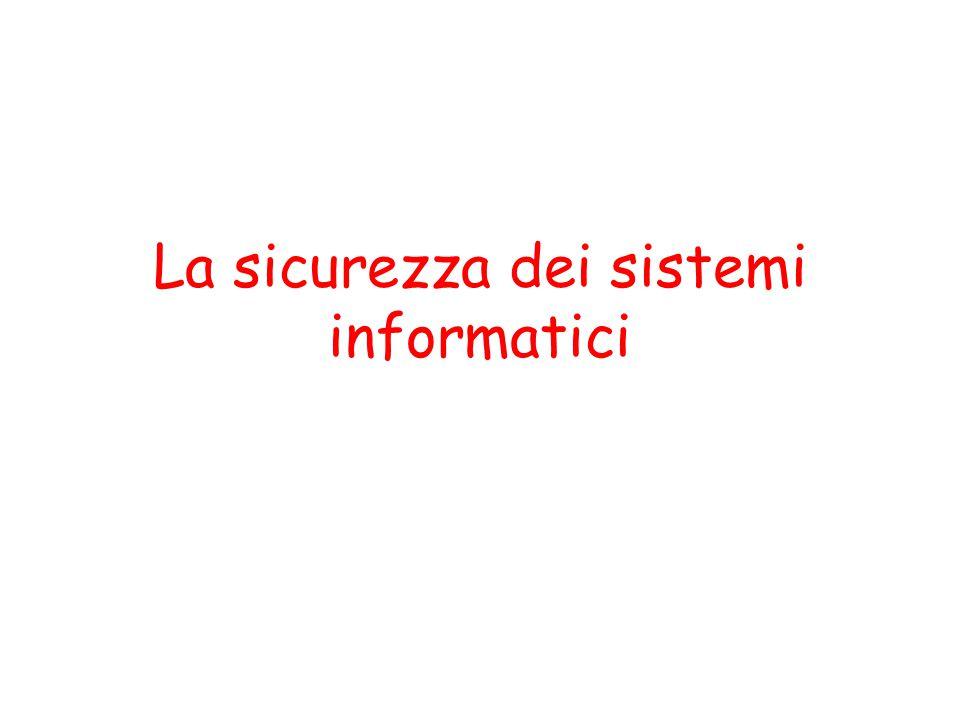 La sicurezza dei sistemi informatici