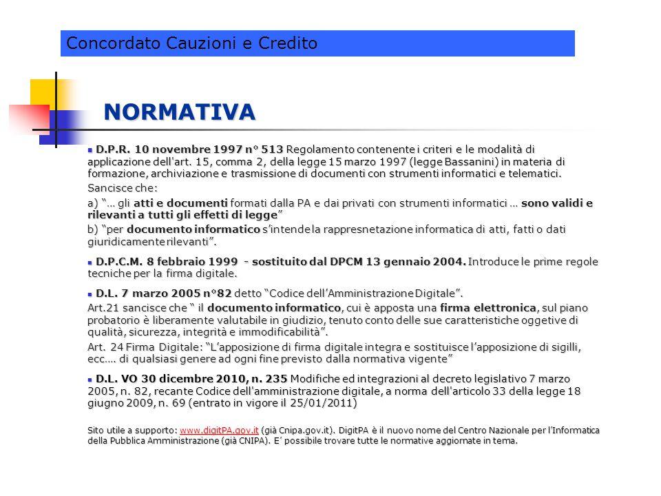 NORMATIVA D.P.R. 10 novembre 1997 n° 513 Regolamento contenente i criteri e le modalità di applicazione dell'art. 15, comma 2, della legge 15 marzo 19