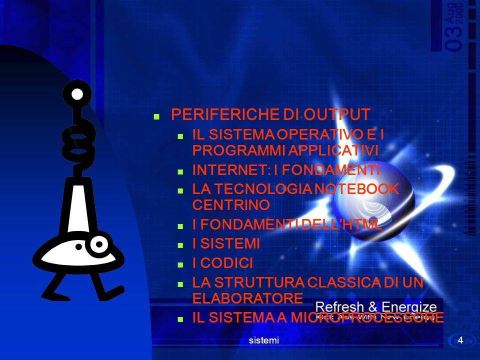 sistemi3 Argomenti trattati il 3°anno STORIA DEL COMPUTER TIPOLOGIE DI COMPUTER IL SISTEMA BINARIO E LA TABELLA ASCII IL MICROPROCESSORE LE MEMORIE LA