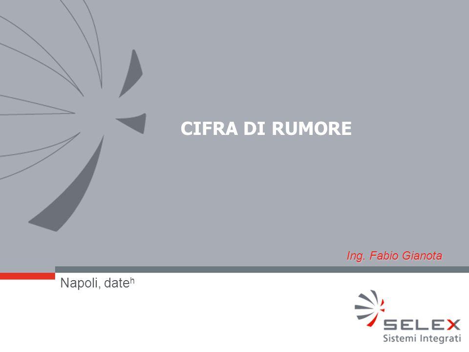 CIFRA DI RUMORE Napoli, date h Ing. Fabio Gianota