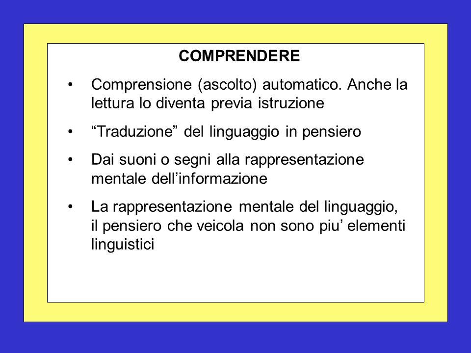 COMPRENDERE Comprensione (ascolto) automatico.