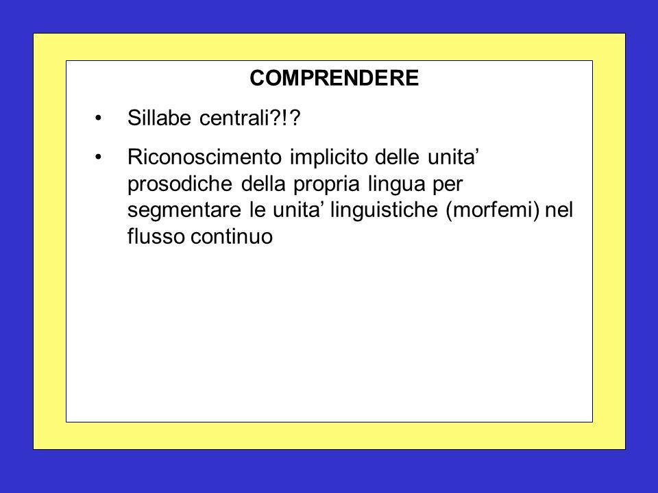 COMPRENDERE Sillabe centrali !.