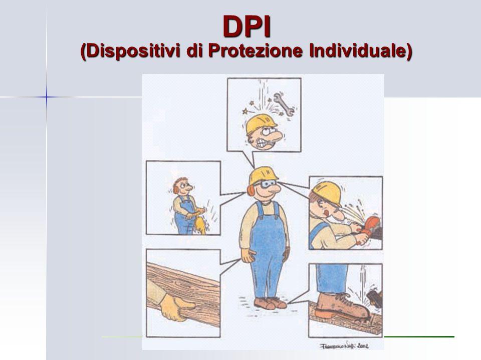 Rischio Residuo Quando, anche con gli interventi di PREVENZIONE e PROTEZIONE, rimane un RISCHIO RESIDUO, è necessario dotare i lavoratori di adatti DPI (Dispositivi di Protezione Individuali)