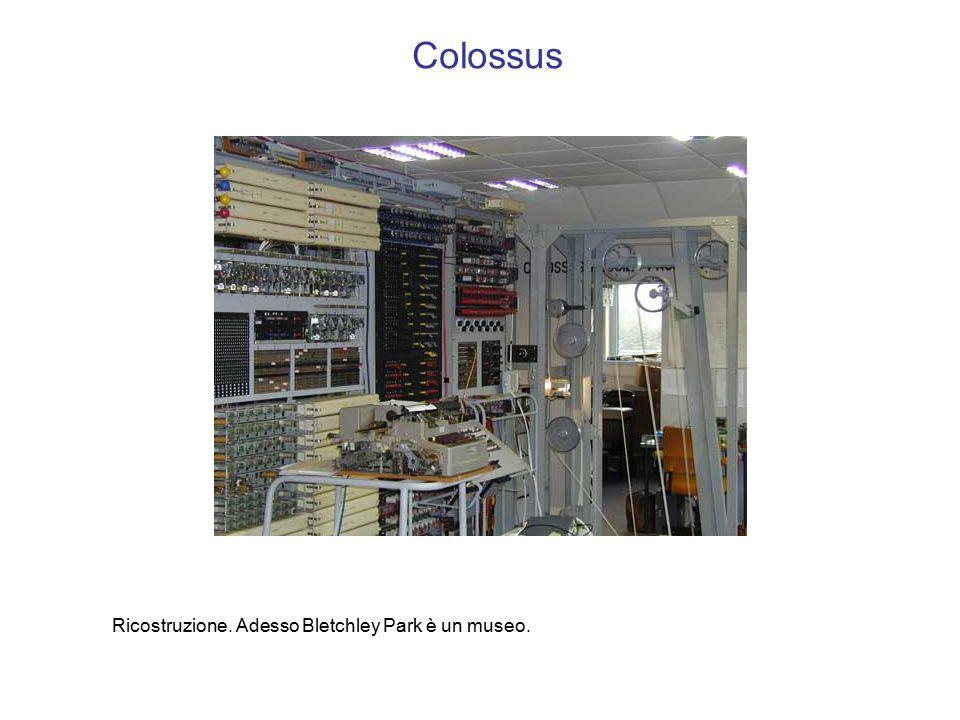 Colossus Ricostruzione. Adesso Bletchley Park è un museo.