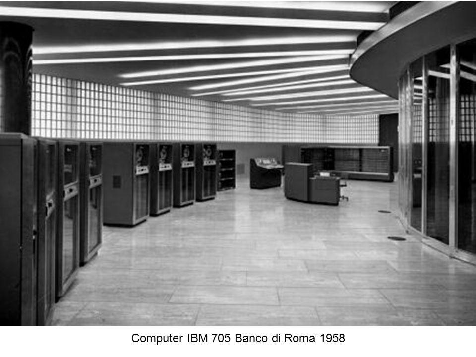 Computer IBM 705 Banco di Roma 1958