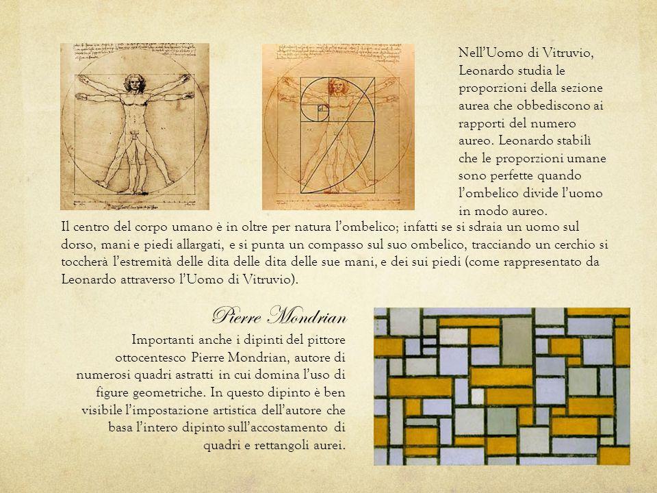 Il centro del corpo umano è in oltre per natura l'ombelico; infatti se si sdraia un uomo sul dorso, mani e piedi allargati, e si punta un compasso sul suo ombelico, tracciando un cerchio si toccherà l'estremità delle dita delle dita delle sue mani, e dei sui piedi (come rappresentato da Leonardo attraverso l'Uomo di Vitruvio).