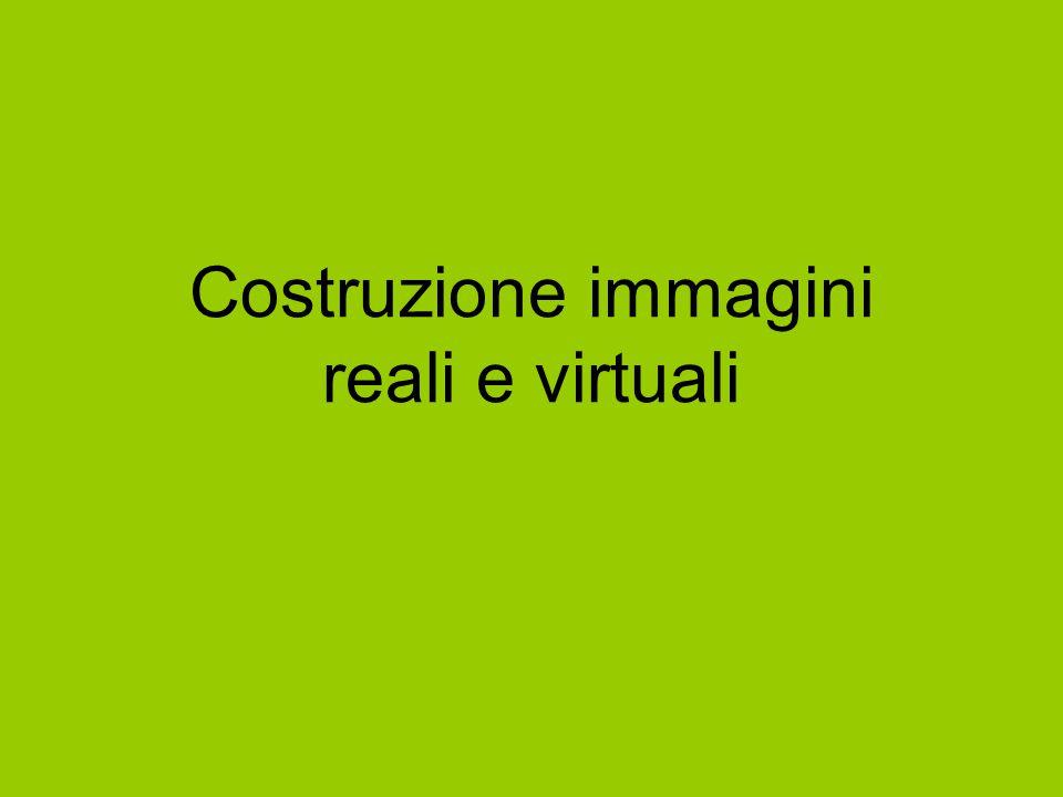 Costruzione immagini reali e virtuali
