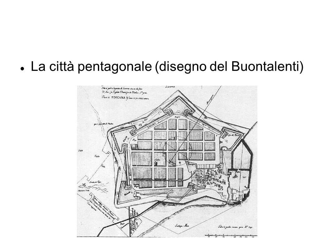 La città pentagonale (disegno del Buontalenti)