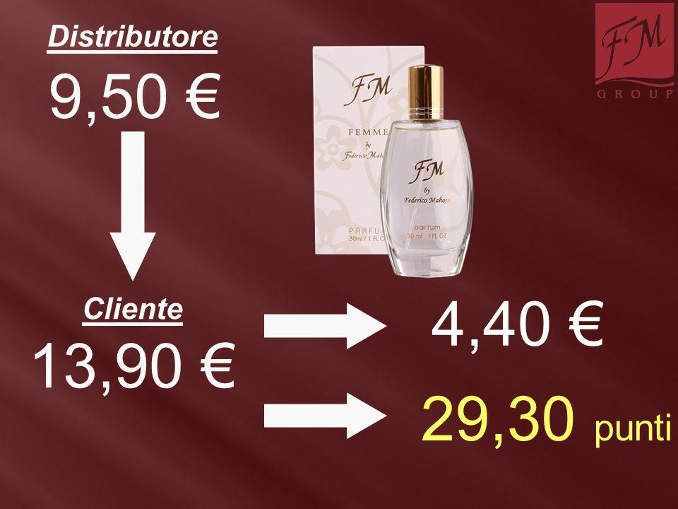 4,40 € 13,90 € Distributore Cliente 9,50 € 29,30 punti