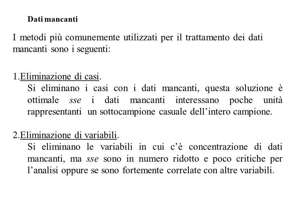 1.Eliminazione di casi.