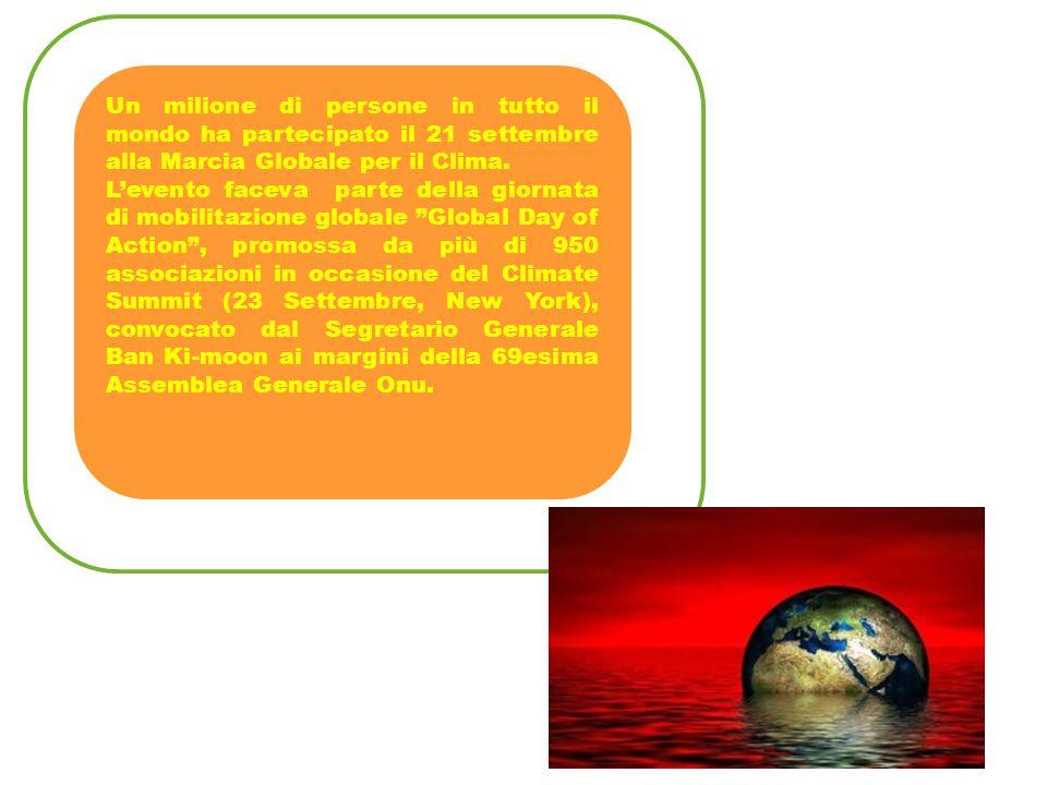 Un milione di persone in tutto il mondo ha partecipato il 21 settembre alla Marcia Globale per il Clima. L'evento faceva parte della giornata di mobil