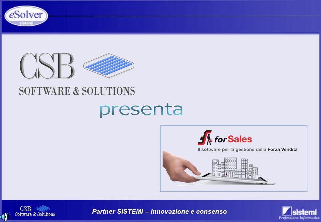 Partner SISTEMI – Innovazione e consenso CSB Software & Solutions