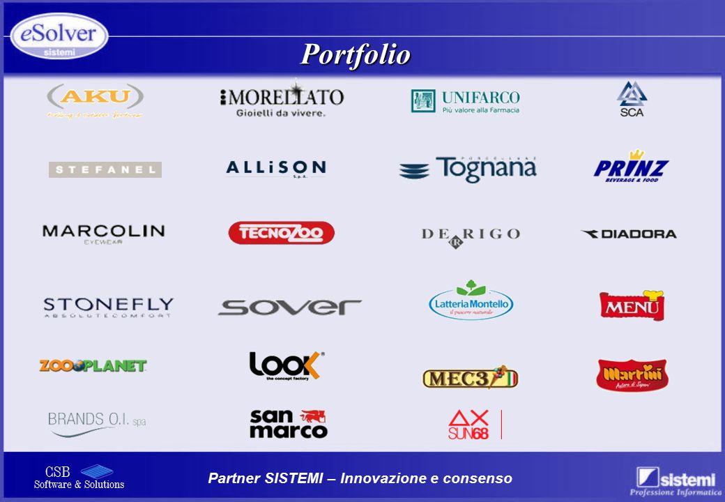 Partner SISTEMI – Innovazione e consenso CSB Software & Solutions Portfolio