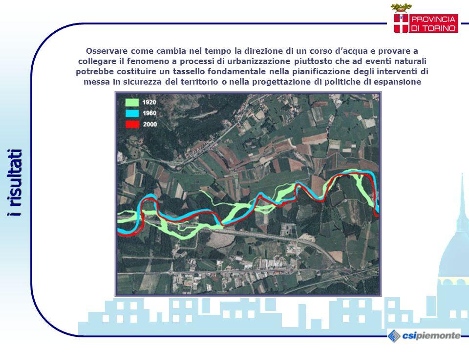 Osservare come cambia nel tempo la direzione di un corso d'acqua e provare a collegare il fenomeno a processi di urbanizzazione piuttosto che ad event