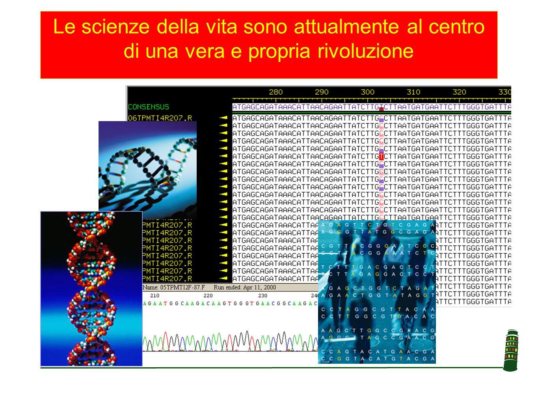 Le scienze della vita sono attualmente al centro di una vera e propria rivoluzione