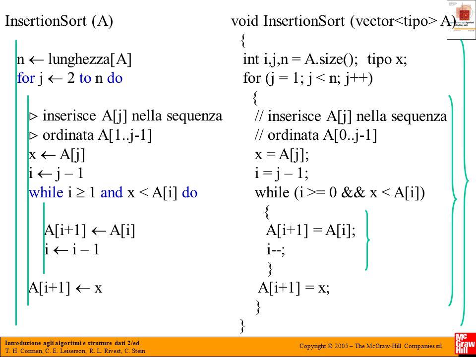 Introduzione agli algoritmi e strutture dati 2/ed T.