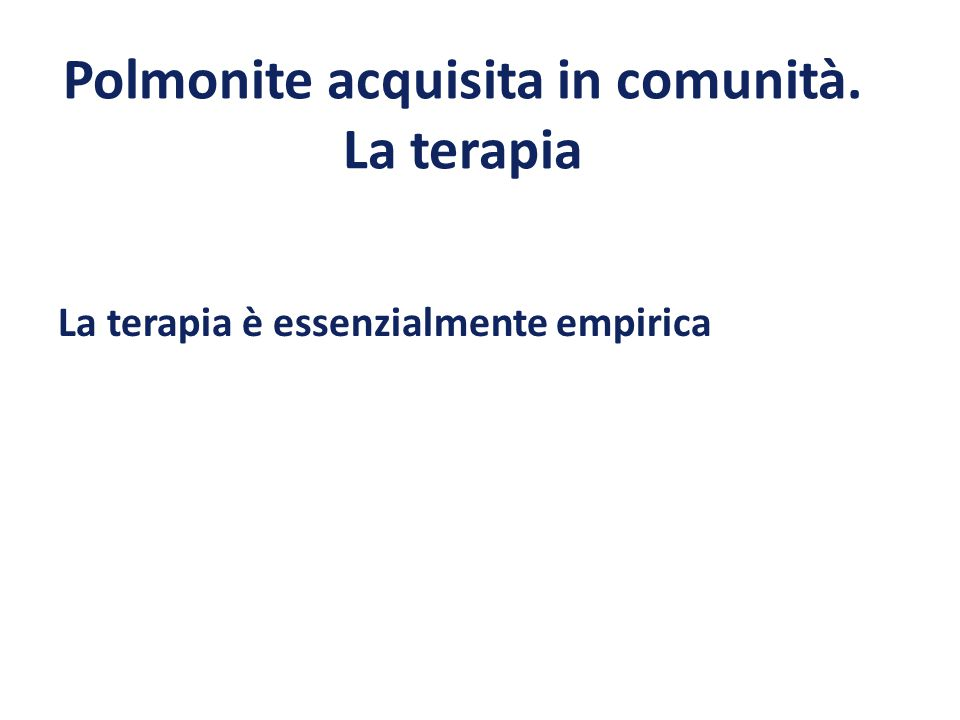 Considerazioni Possibile eziologia da atipici ceppi multiresistenti Considerazioni cliniche (condizioni generali del paziente, severità della malattia, età, fattori di rischio etc).