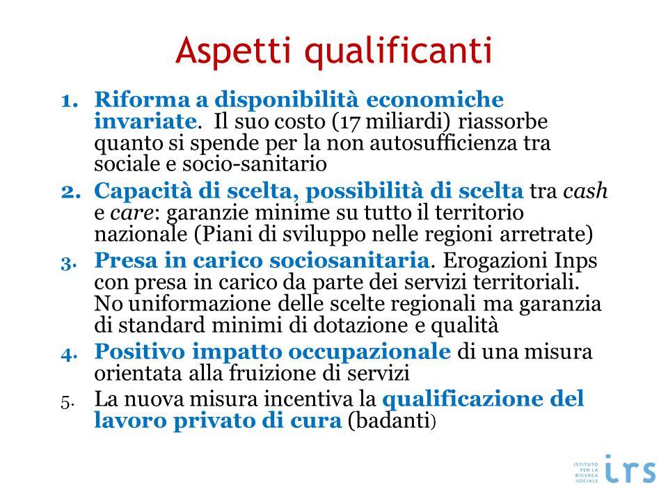 Aspetti qualificanti 1.Riforma a disponibilità economiche invariate.