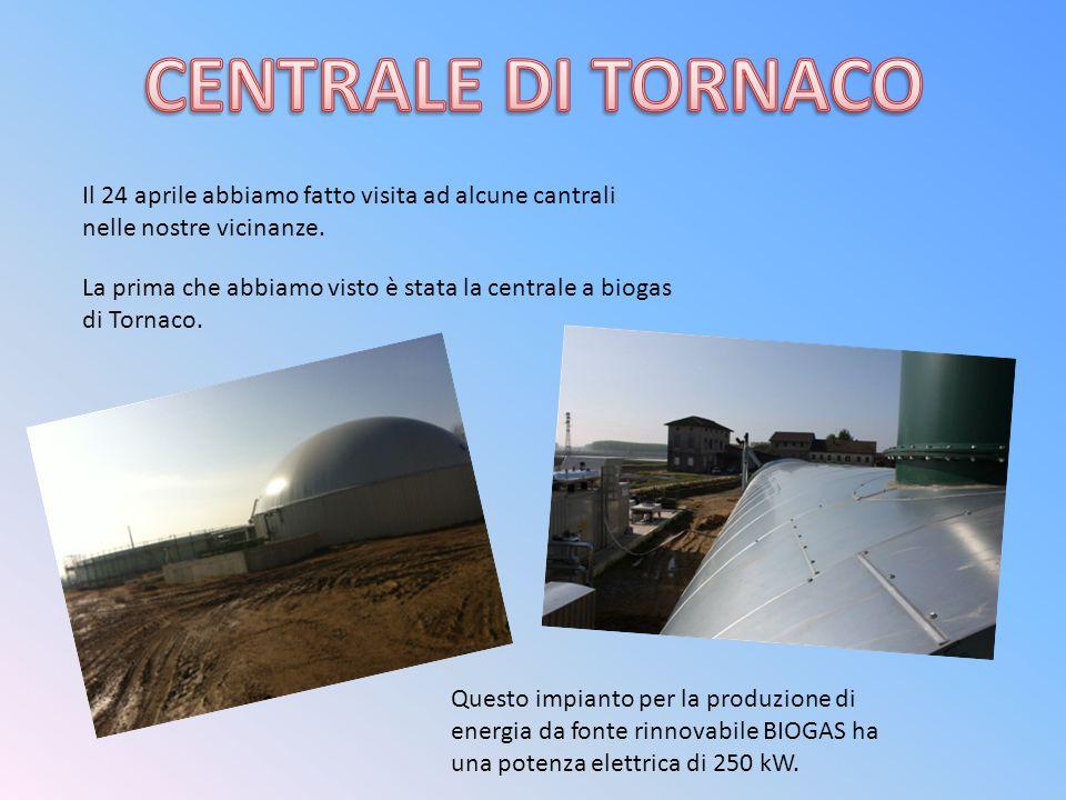 Il 24 aprile abbiamo fatto visita ad alcune cantrali nelle nostre vicinanze. La prima che abbiamo visto è stata la centrale a biogas di Tornaco. Quest