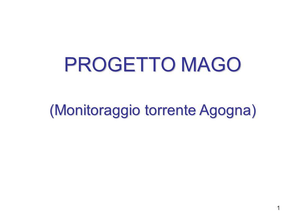 2 2 Il Progetto MAGO 2006 è la naturale prosecuzione del progetto MAGO che nasceva come idea per un'area di Progetto con l'obiettivo di portare nelle aule e nei laboratori scolastici un' esperienza vera , stimolante e al tempo stesso complessa, di una realtà che appartiene al territorio: il torrente Agogna.