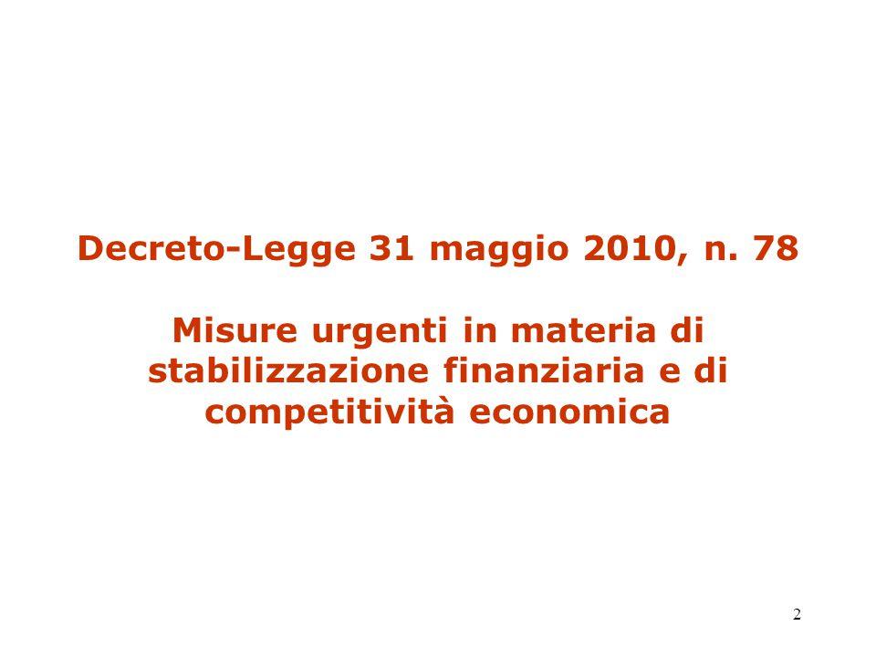 2 Decreto-Legge 31 maggio 2010, n.