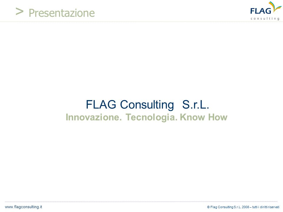 © Flag Consulting S.r.L.