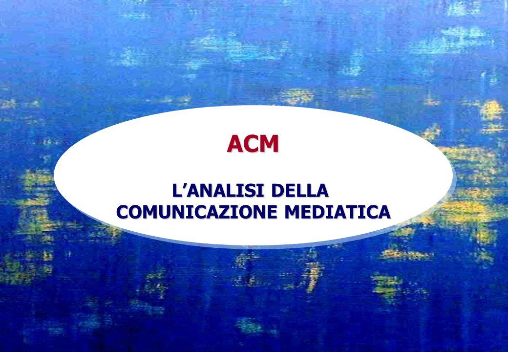 ACM L'ANALISI DELLA COMUNICAZIONE MEDIATICA ACM L'ANALISI DELLA COMUNICAZIONE MEDIATICA
