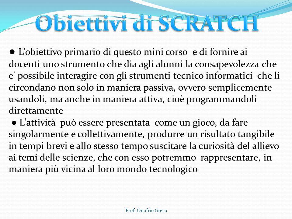 Scratch links: Scratch Home pageScratch Home page - Scarica e installa Scratch offlineScarica e installa Scratch Scratch tour ScratchEDScratchED Il sito Scratch dedicato agli educatori.