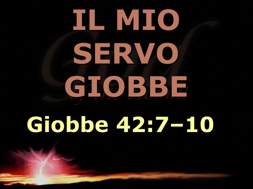 IL MIO SERVO GIOBBE Giobbe 42:7–10