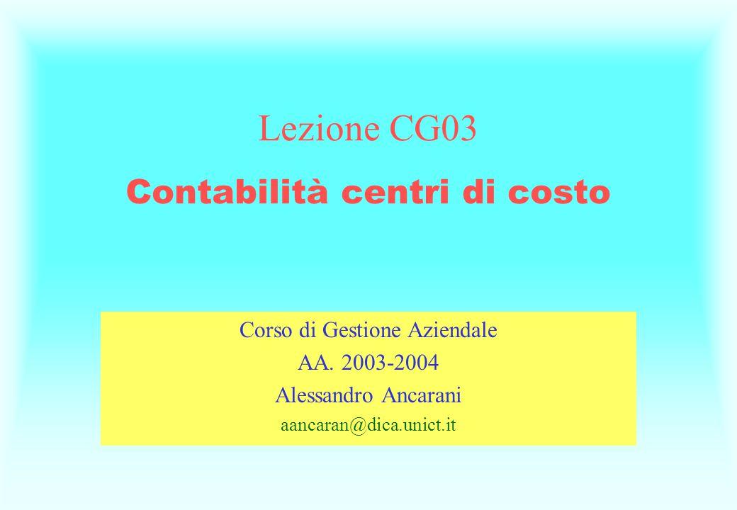 Corso di Gestione Aziendale AA.