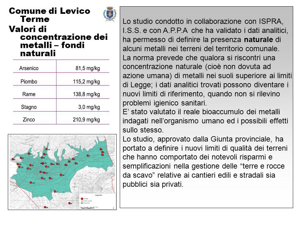 Lo studio condotto in collaborazione con ISPRA, I.S.S.