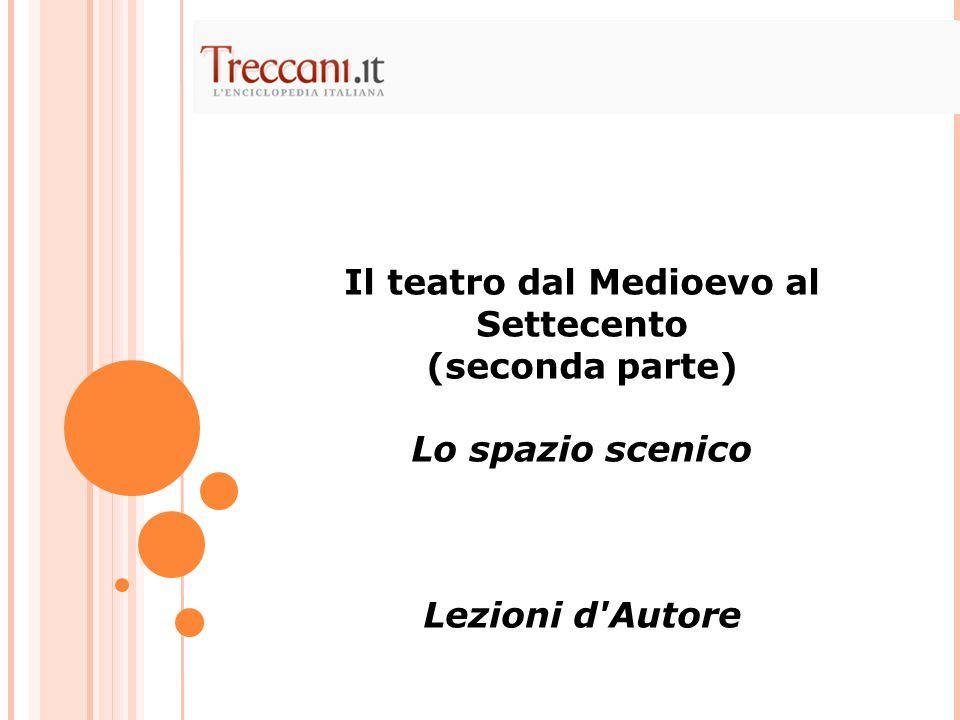 Il teatro dal Medioevo al Settecento (seconda parte) Lo spazio scenico Lezioni d'Autore