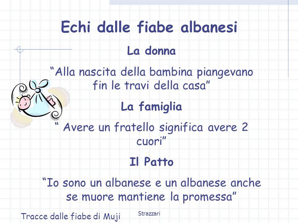 """Strazzari Echi dalle fiabe albanesi La donna """"Alla nascita della bambina piangevano fin le travi della casa"""" La famiglia """" Avere un fratello significa"""
