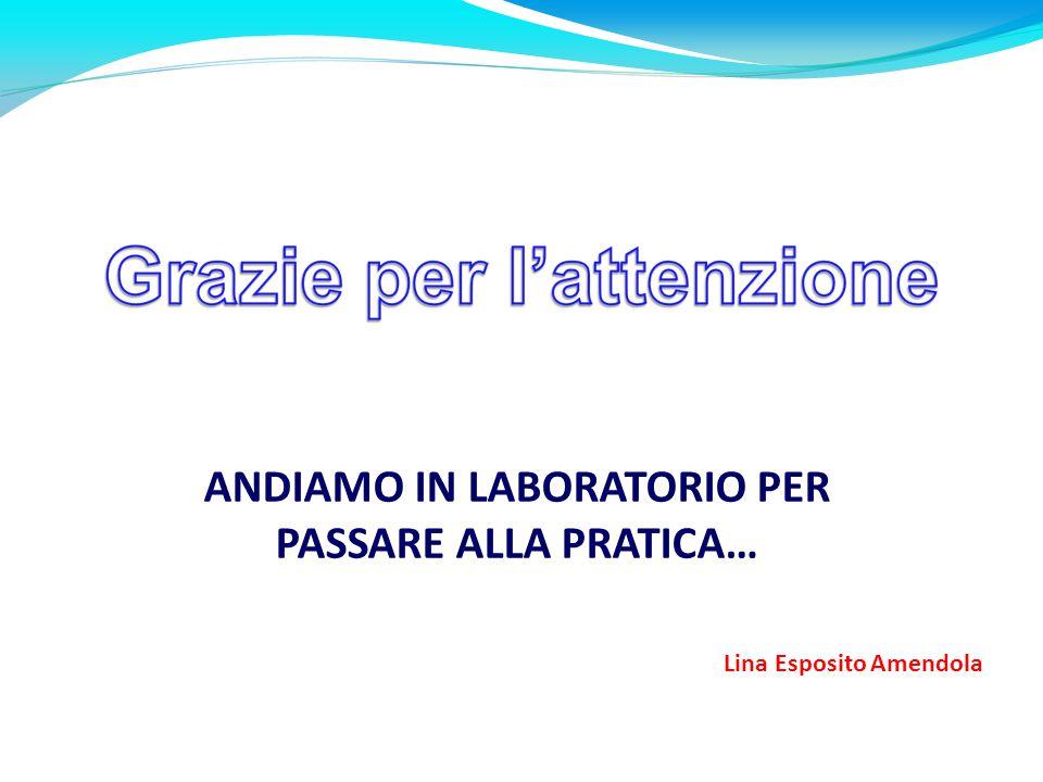 ANDIAMO IN LABORATORIO PER PASSARE ALLA PRATICA… Lina Esposito Amendola A076 TRATTAMENTO TESTI E DATI