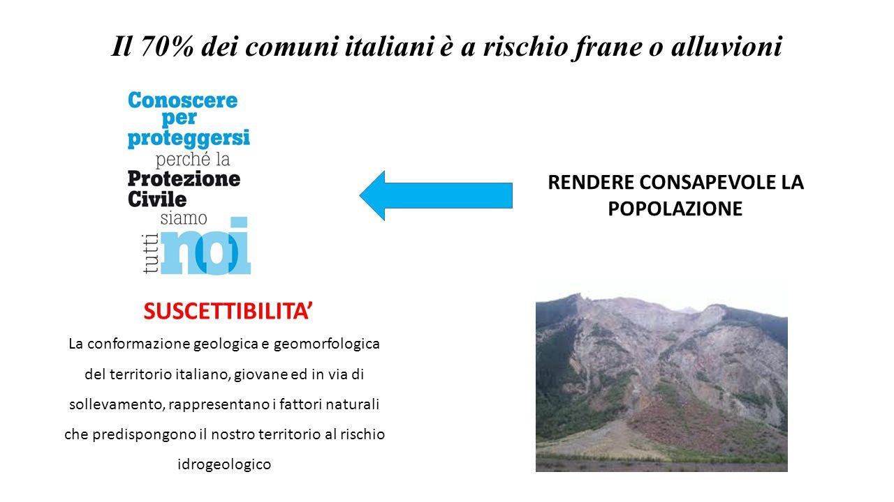 La conformazione geologica e geomorfologica del territorio italiano, giovane ed in via di sollevamento, rappresentano i fattori naturali che predispon
