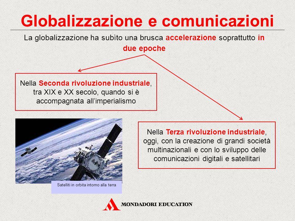 Globalizzazione e comunicazioni La globalizzazione ha subìto una brusca accelerazione soprattutto in due epoche Nella Seconda rivoluzione industriale,