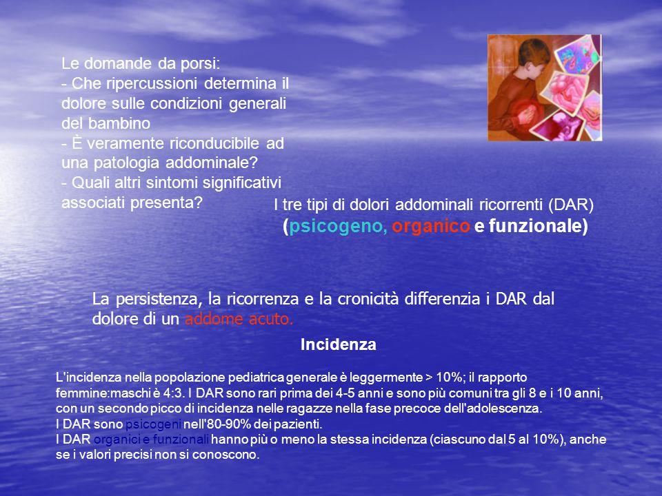 Può essere difficile determinare se i DAR sono psicogeni, organici o funzionali.
