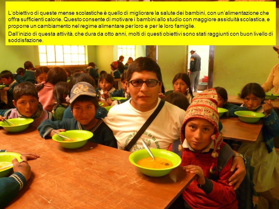 L'obiettivo di queste mense scolastiche è quello di migliorare la salute dei bambini, con un'alimentazione che offra sufficienti calorie.