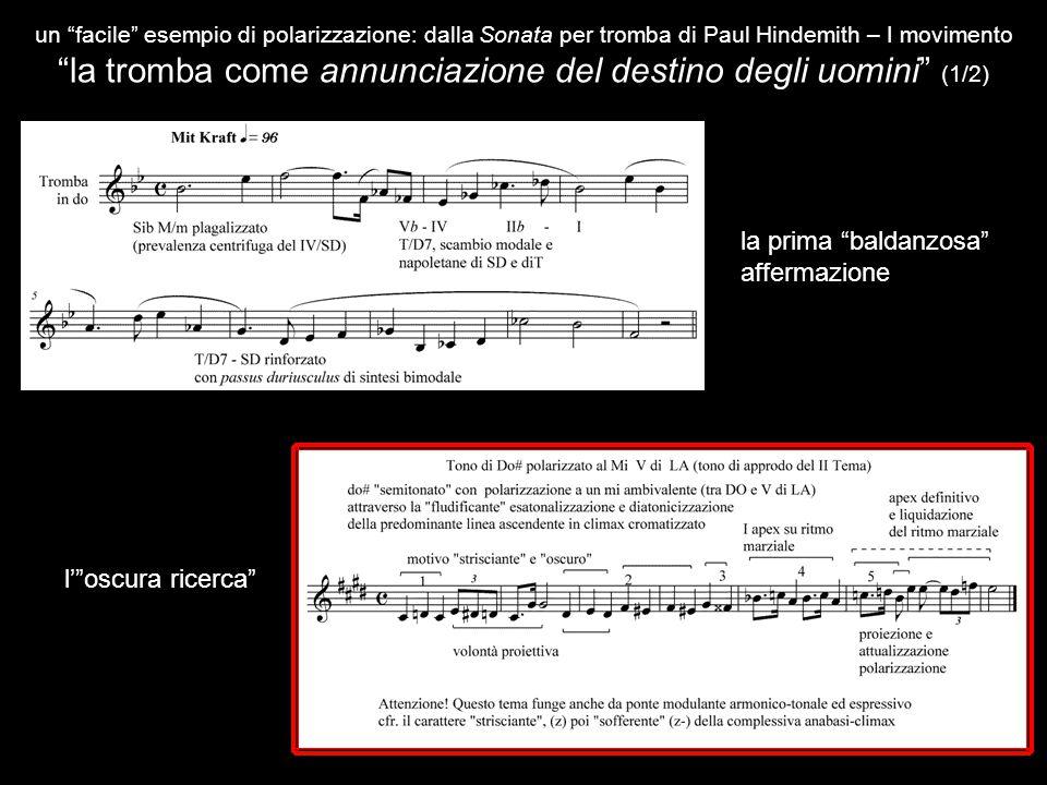 """un """"facile"""" esempio di polarizzazione: dalla Sonata per tromba di Paul Hindemith – I movimento """"la tromba come annunciazione del destino degli uomini"""""""