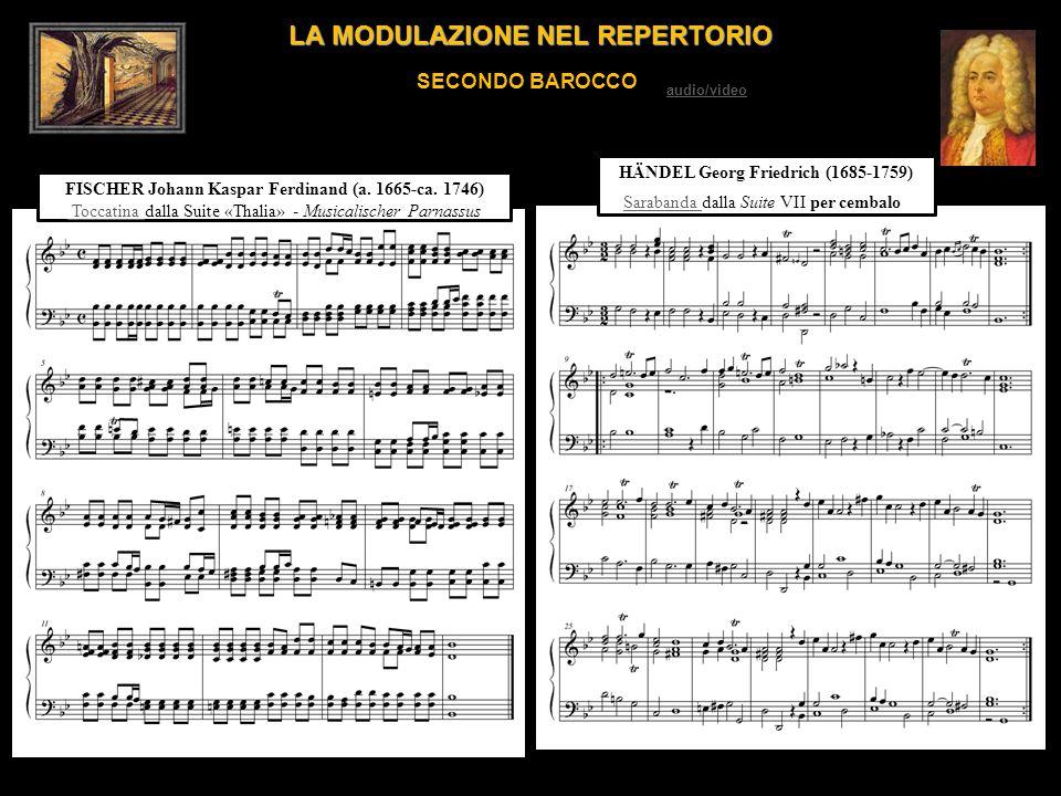 LA MODULAZIONE NEL REPERTORIO SECONDO BAROCCO FISCHER Johann Kaspar Ferdinand (a. 1665-ca. 1746) Toccatina Toccatina dalla Suite «Thalia» - Musicalisc