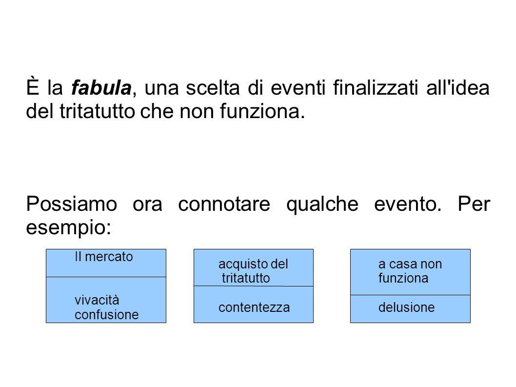 È la fabula, una scelta di eventi finalizzati all idea del tritatutto che non funziona.