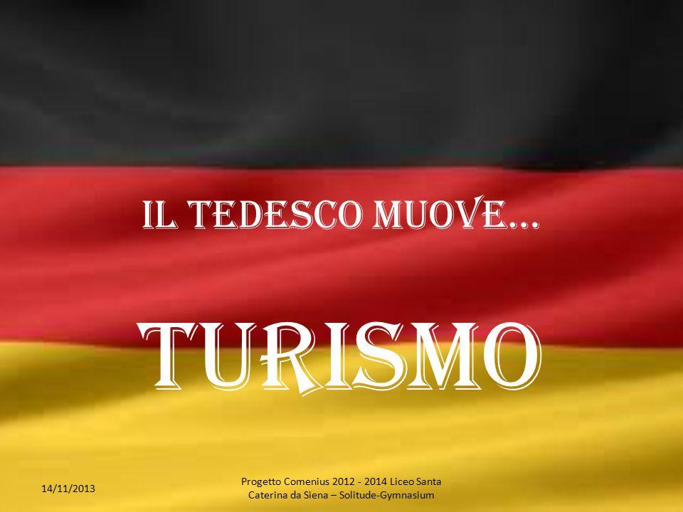 Il tedesco muove… turismo 14/11/2013 Progetto Comenius 2012 - 2014 Liceo Santa Caterina da Siena – Solitude-Gymnasium